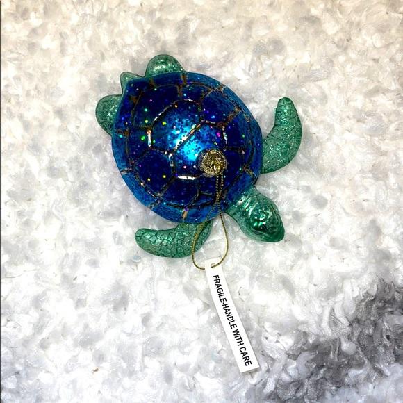 Glittery Turtle Christmas Ornament - NWT